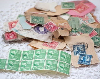 Vintage Stamps, Mixed cancelled and unused, 1 cent and more