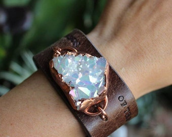 Upcycled Angel aura cuff - made to order, customizable