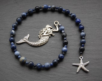 Sea Witch's Pagan Prayer Beads/Witch's Ladder/Witches' Ladder. Pagan Druid Wicca Witch Domnu Brigid Morgan Water Ocean Sea Mermaid Magic