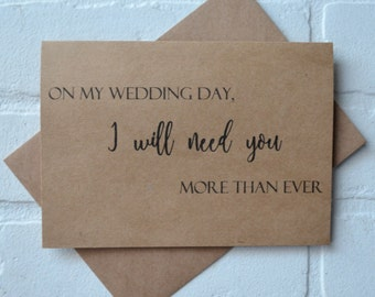 On my wedding day I need you MORE than ever my FRIEND FOREVER will you be my bridesmaid card kraft best friend bridal proposal cards wedding
