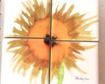 Magnet Set Sunflower 3.5 in x 3.5 in