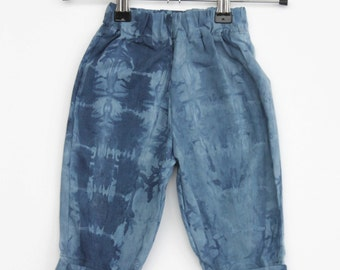 Upcycled Hand Dyed Baby and Toddler Trousers