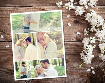 Save The Date Magnet, Card or Postcard . Clean 5 Pictures