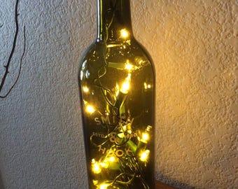 Cabernet Sauvignon, Bottle Light, Wine Bottle Light, Recycled, Man Cave, Bar Light, Wine Gift, Smith & Hook, Lighted Bottle, Cabernet.