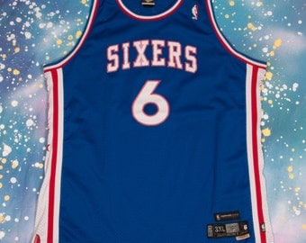SIXERS #6 Erving Reebok Basketball Jersey Size  3XL