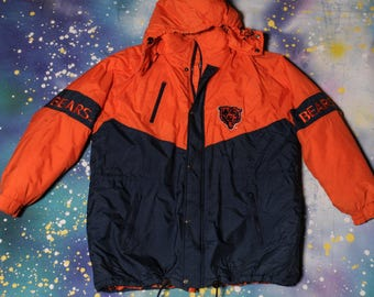 Chicago BEARS Football Game Day  Starter Style Jacket Size XL