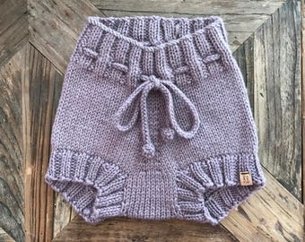 READY TO SHIP///Drawstring Bloomers in Seraphim (6-12 Months)