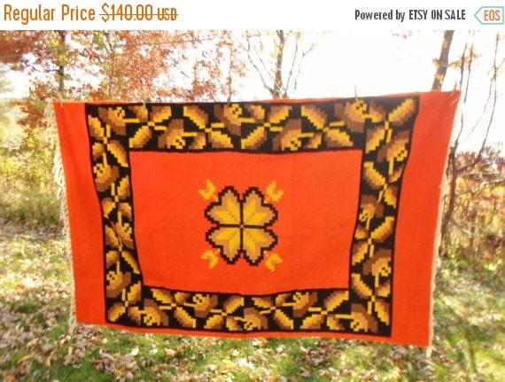 on sale vintage wool blanket native american by debscountryvintage. Black Bedroom Furniture Sets. Home Design Ideas