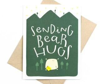sympathy card - sending bear hugs