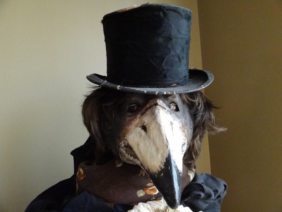 Plague Doctor Mask Paper Mache Mask Crow Mask Raven Mask