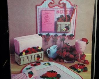 Strawberry Patch Plastic Canvas Leaflet