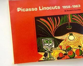 Picasso linocuts vintage art book.