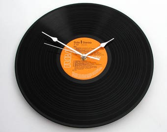 HAIR! Vinyl Record Clock recycled vinyl LP, original soundtrack, great gift for hairdressers, mum, sister, best friend, girls, men, wig, fun