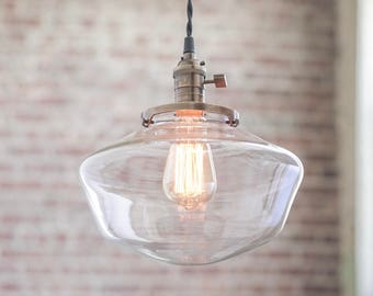 Pendant Lights - Schoolhouse Pendant -  Hanging Pendant Light - Industrial Shade Pendant - Edison Pendant - Mid Century Modern