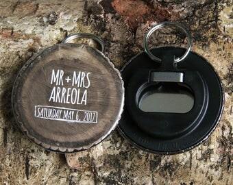 WOODLAND design - Keyring Bottle Opener wedding favours x 40