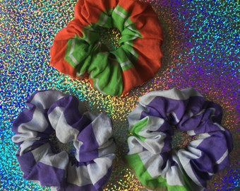 Striped UPCYCLED UNIVERSE Hair Scrunchies