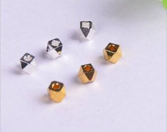 20pcs / 50pcs / 100pcs 4mm Nickel Free -High Quality Raw Brass Bead Charms With a Hole -- PA270