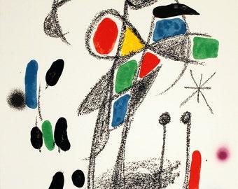 Joan Miro-Maravillas #1070-1975 Lithograph