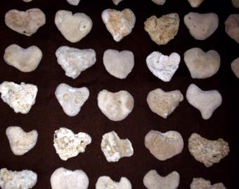 45 Medium Heart Shaped Beach Rocks-Valentine's, Home Decor, Aquariums, Weddings
