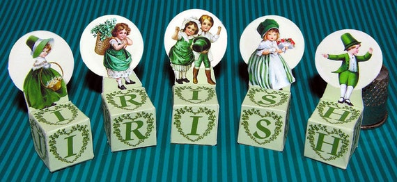 St. Patrick Day, DIY kit from paper in miniature for the Doll House, Doll House, dollhouse miniatures # 40071