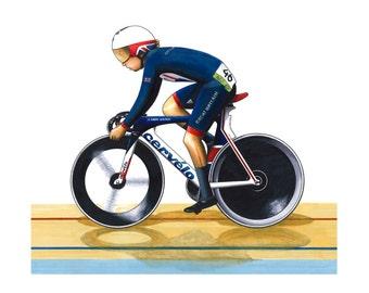 Laura Trott - Omnium - 2016 Rio Olympics Greeting Card