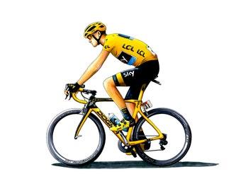 Chris Froome – Tour de France 2015 Greeting Card