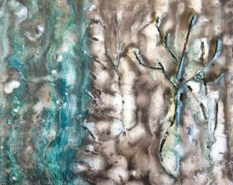Winter Trees -- Original encaustic
