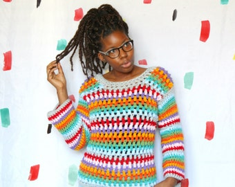 The Granny Love Crochet Top Pattern. Instant Download!