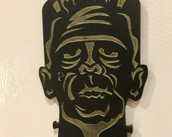 Frankenstein's Monster, Acrylic, Laser Cut, Halloween, Sci Fi, Horror, Magnet