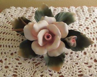 Stunning Capo Di Monte Porcelain Rose Centerpiece