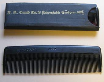 Civil War Goodyear Gutta Purcha Hard Rubber Comb