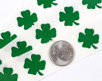 green shamrock 1 inch scratch off stickers
