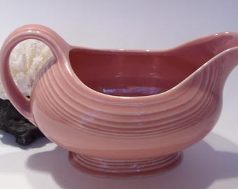 Fiesta Pink Gravy Boat Made in the USA
