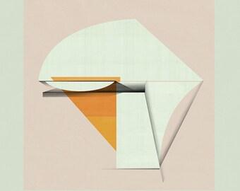 Geometric Art, Geometric Print, Minimalist Art, Wall Decor, Abstract Art, Architectural Print, Mid Century Modern Art - Limited edition (20)