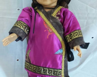 18 inch Chinese  style doll outfit, 3 peice set
