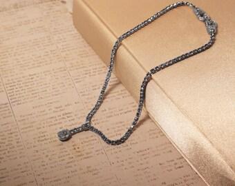 Clear Rhinestone Drop Necklace