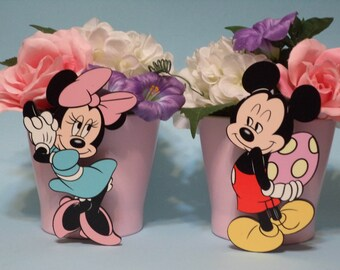 Mickey & Minnie Easter Floral Pots
