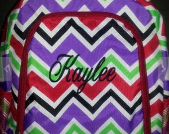 Personalized Backpack, chevron pattern,  back to school, sale