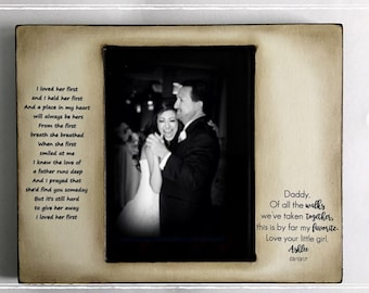 Father Daughter Dance gift, Daddy's little girl, hPersonalized Father of the Bride Wedding Picture Frame 4x6 Keepsake Daddy and Me 5x7 Song