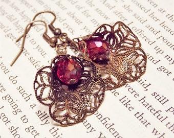 Victorian Gem Drop Earrings