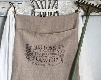 Linen Pocket~ Flowers
