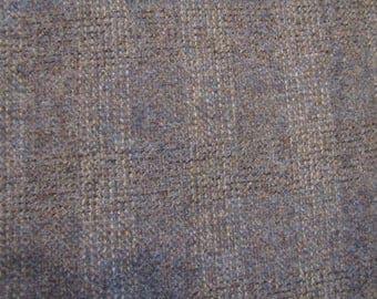 1970's Heathered Gray Subtle Striped Wool Fabric Piece, Wool, Gray, Beige, Heathered, Striped, Woven, 1970's, Felting, Wool Fabric Piece