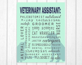Vet Tech Quotes Enchanting Real Doctors Veterinarians Print