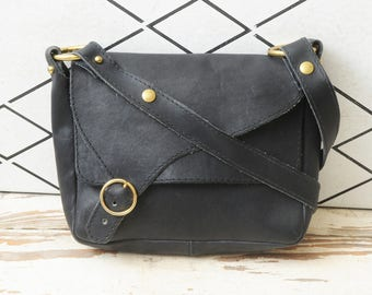 Davey's Leather Purse Black Made in USA