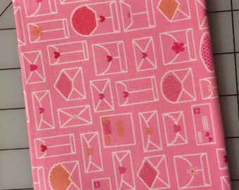 Riley Blake - Lovebugs Collection FAT QUARTER cut of Envelope in Pink   C5052