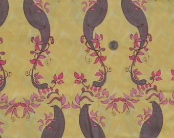 Tina Givens fabric, Olivia's Holiday Friendship gold, 1 yard, fabric destash.
