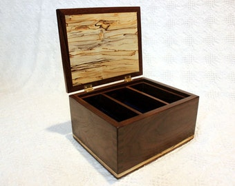 Wooden Jewelry Box - A Spalted Maple & Walnut Jewelry Box