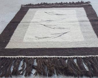 2 by 3 rug / Vintage Oushak Rug / Vintage Kilim / Turkish Kilim Rug / Small Kilim Rug / Oushak Rug / Kilim Pillow / Kitchen Rug / Kilim Rug