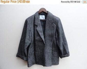 SALE Surrey Classics Tweed Coat Jacket Vintage 80s M L