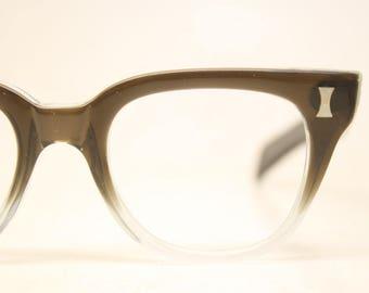 NOS Brownsmoke Fade Vintage Eyeglasses 1960s Men Retro Glasses Frames Horn Rimmed Glasses New Old Stock Vintage Eyewear